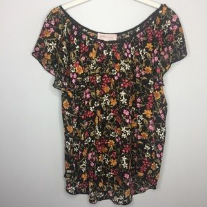 NWT PHILOSOPHY Floral Short Sleeve Blouse